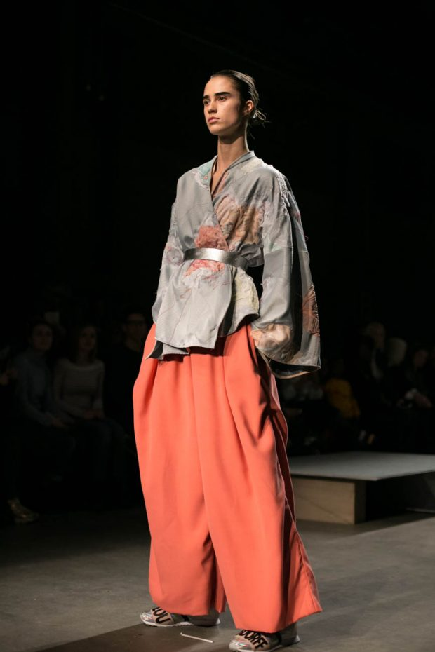 Ajbilou Rosdorff, Amsterdam Fashion Week, model photography, fashion photographer Amsterdam, catwalk, fashion design, male model, asian design, asian look, orange