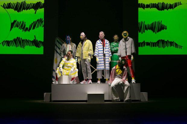 Anouk van Klaveren, fashion photography, models, Das Leben am Haverkamp, catwalk, Amsterdam Fashion Week, models on display, colorful, facemark, surreal