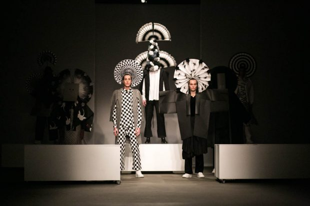 black and white, design, clothes, fashion photography, models, Das Leben am Haverkamp, catwalk, Amsterdam Fashion Week