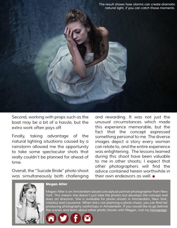 underwater photoshoot, publication, good light magazine