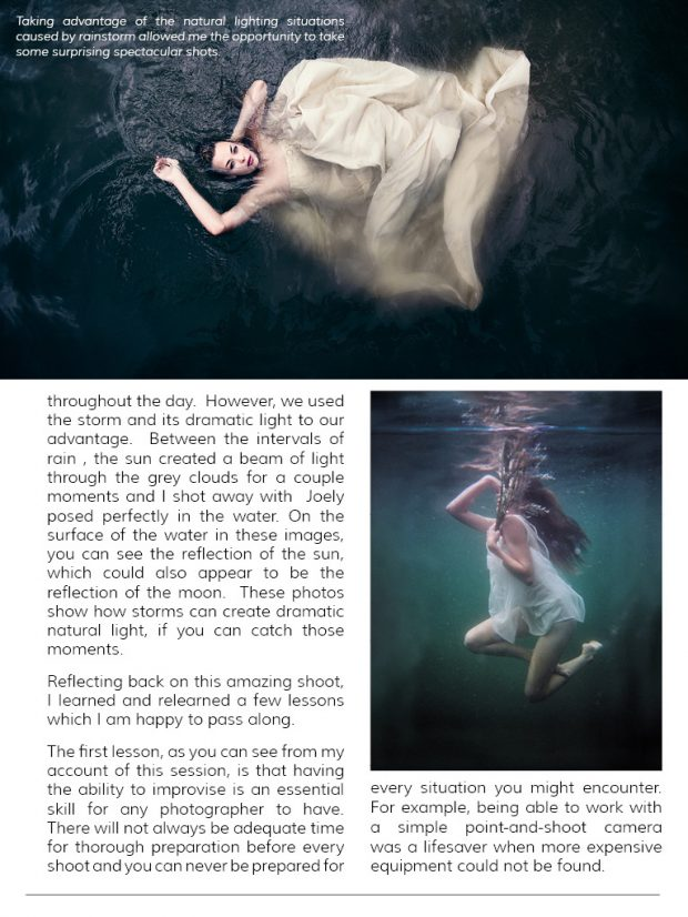 suicide bride photoshoot, underwater photoshoot, Megan Alter, Good light Magazine,