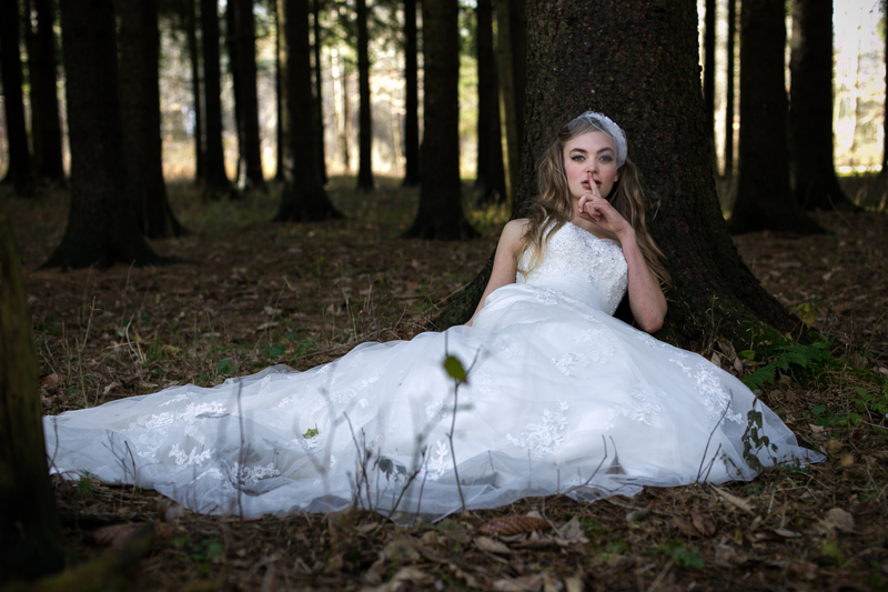lost bride in the woods