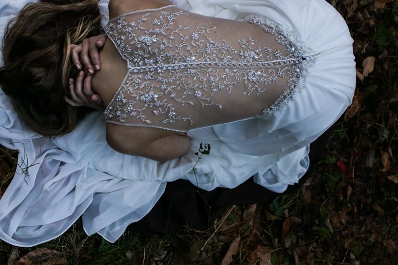 detail shot bride