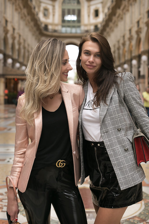 street fashion, womens fashion, milan, chequered, street style, street fashion, street photography, galleria vittorio emanuele, milan