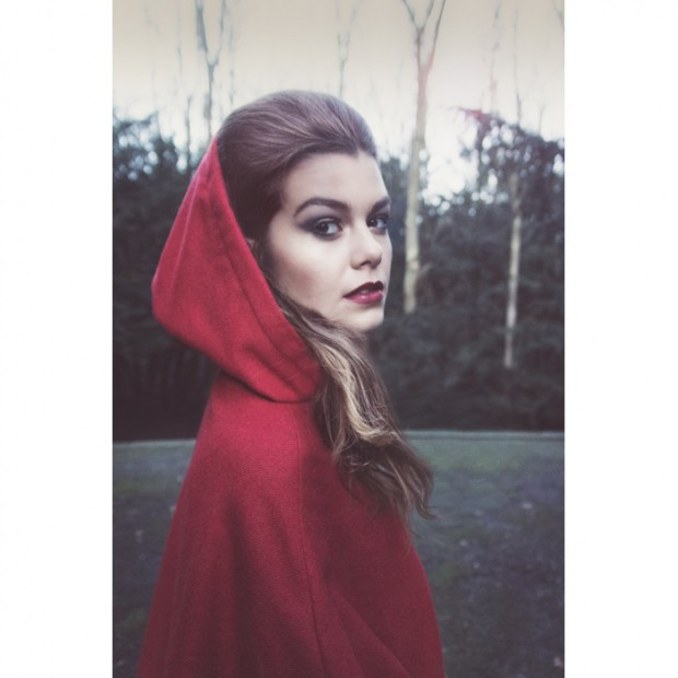little red, little red riding hood, photoshoot, red, surreal photography, fashion photography Amsterdam, visual storytelling, on-location photography, editorial portrait