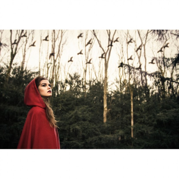 little red riding hood, photo shoot, red, surreal photography, fashion photography Amsterdam, visual storytelling, on-location photography