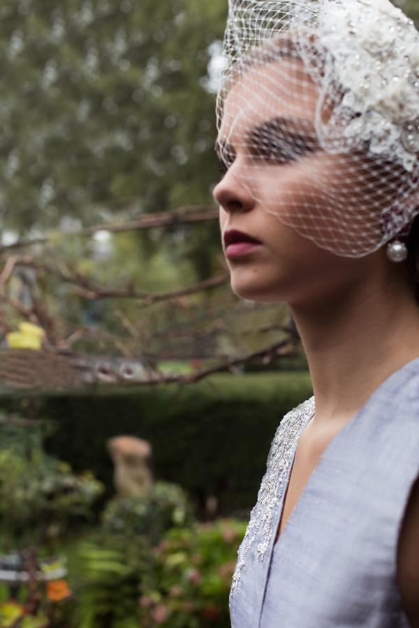 backyard, Julia and Sita, model photography Amsterdam, head piece, blue dress, sequins, indian fashion, fashion photography Amsterdam