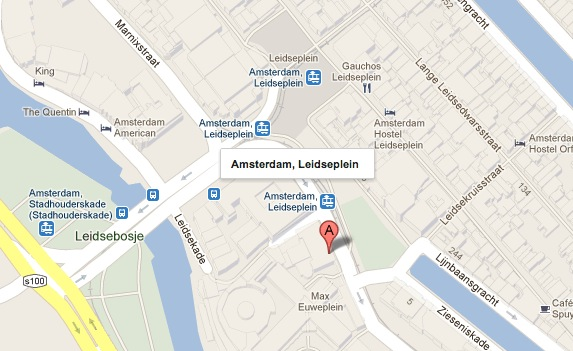 Map of Leidseplein, Amsterdam