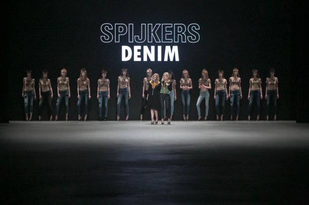 Spijkers en Spijkers Denim, Amsterdam Fashion Week, fashion show, catwalk, model, walk, finale, designers