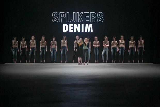 Spijkers en Spijkers Denim, Amsterdam Fashion Week, fashion show, catwalk, model, walk, finale, designers