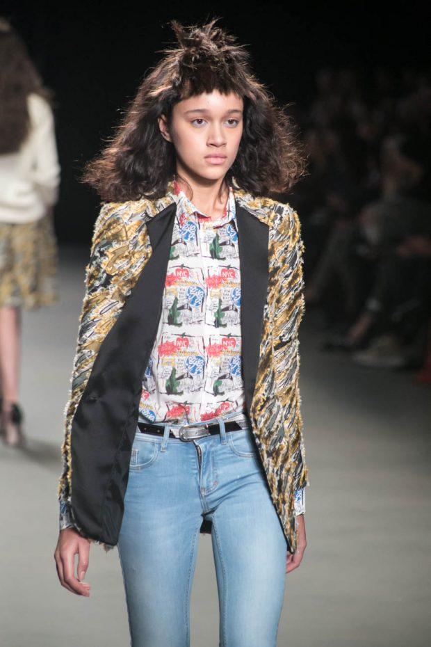 Spijker en Spijkers, Amsterdam Fashion Week, fashion show, catwalk, model, walk, jeans, print