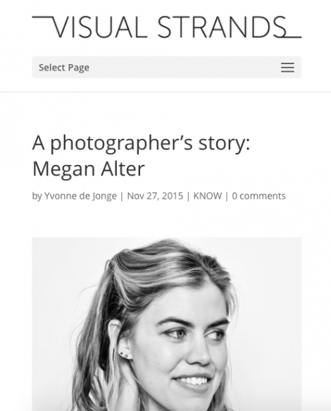 Megan Alter featured on Visual Strands