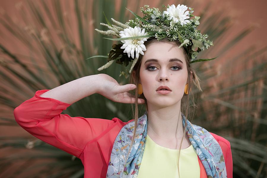among the cacti fashion shoot