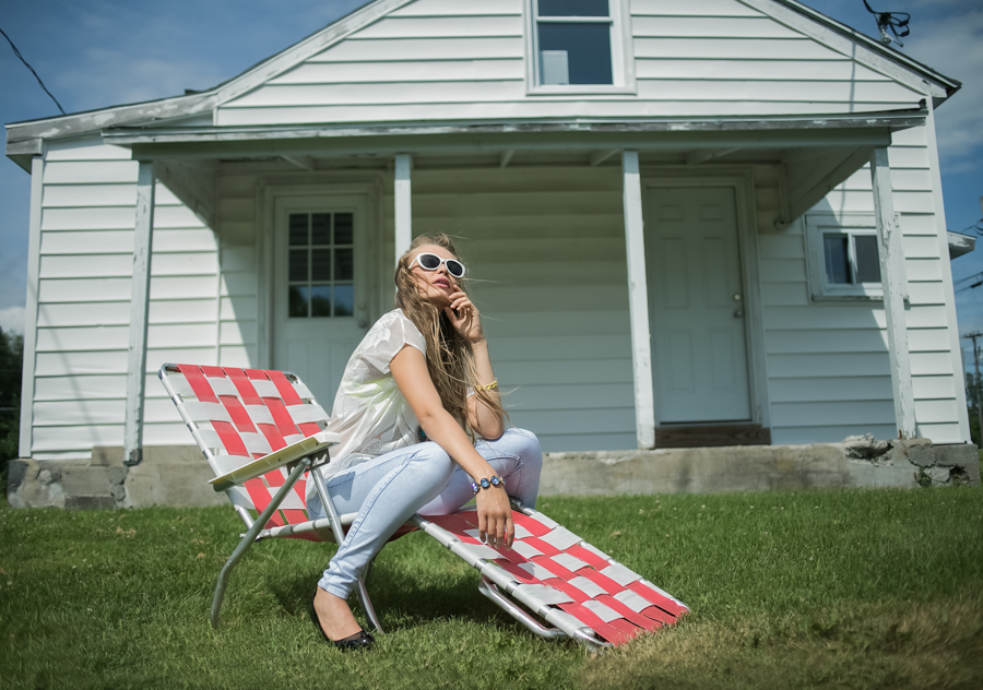 vintage fashion, girl sunbathing, model photography, summer fashion, urban photography, Upstate New York, fotoshoot